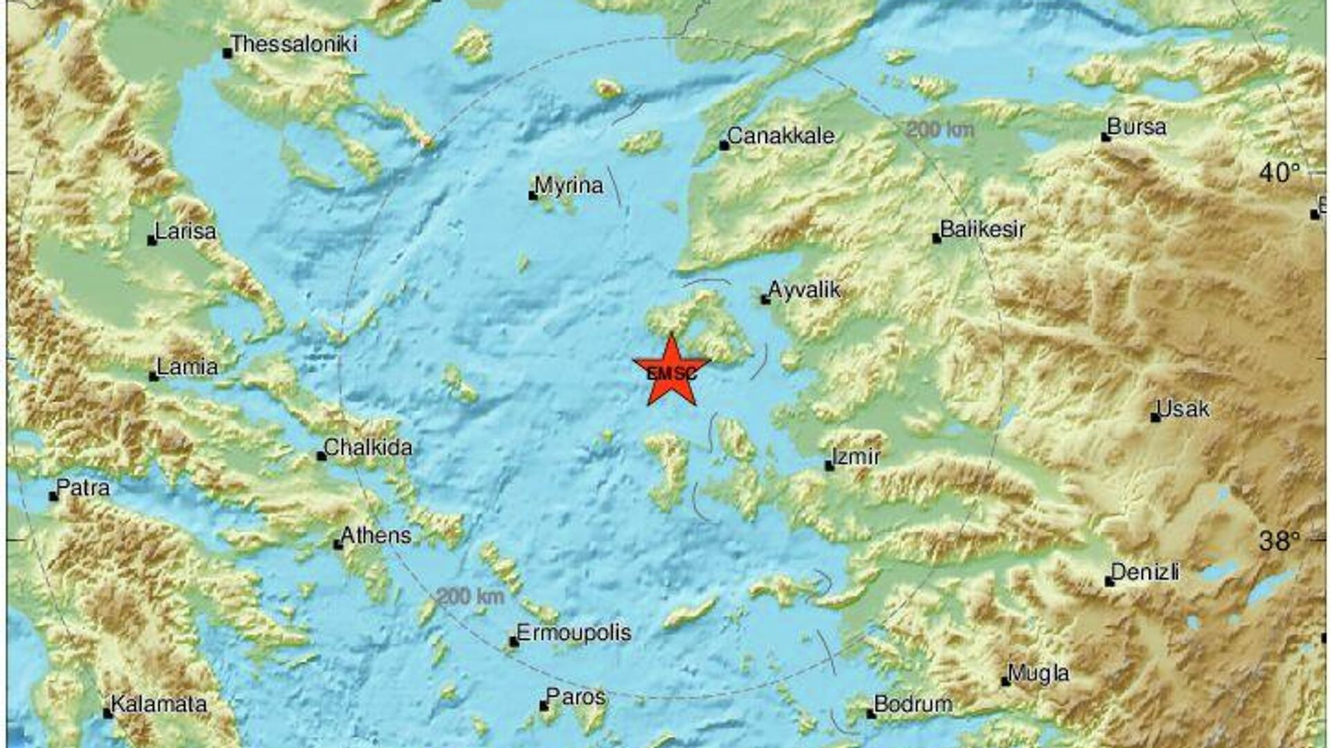 Σεισμός ανοιχτά της Μυτιλήνης - Sputnik Ελλάδα, 1920, 27.07.2021