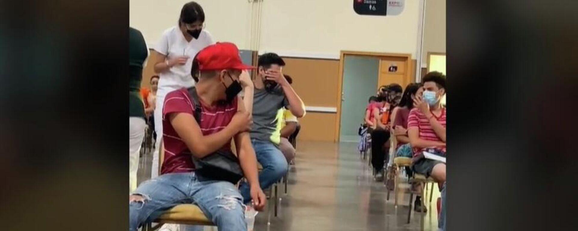 Άντρας στο Μεξικό φοβάται να κάνει το εμβόλιο και ουρλιάζει τρομοκρατημένος - Sputnik Ελλάδα, 1920, 31.07.2021