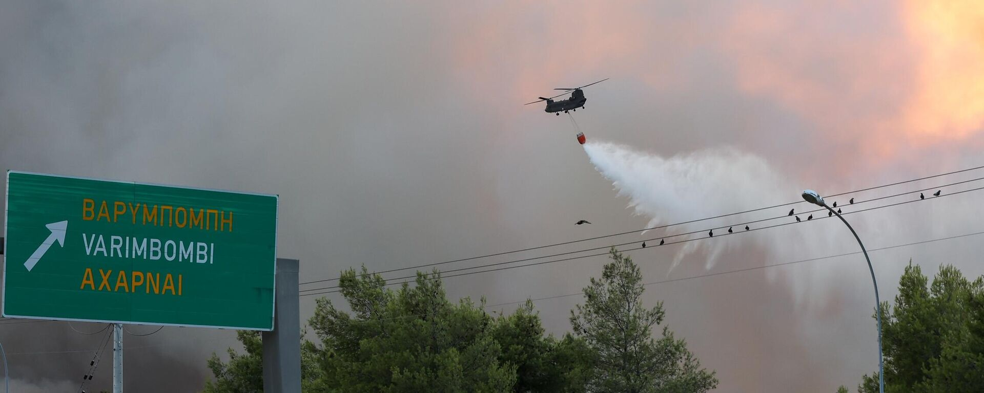 Πυρκαγιά στη Βαρυμπόμπη Αττικής, 3 Αυγούστου 2021. - Sputnik Ελλάδα, 1920, 04.08.2021