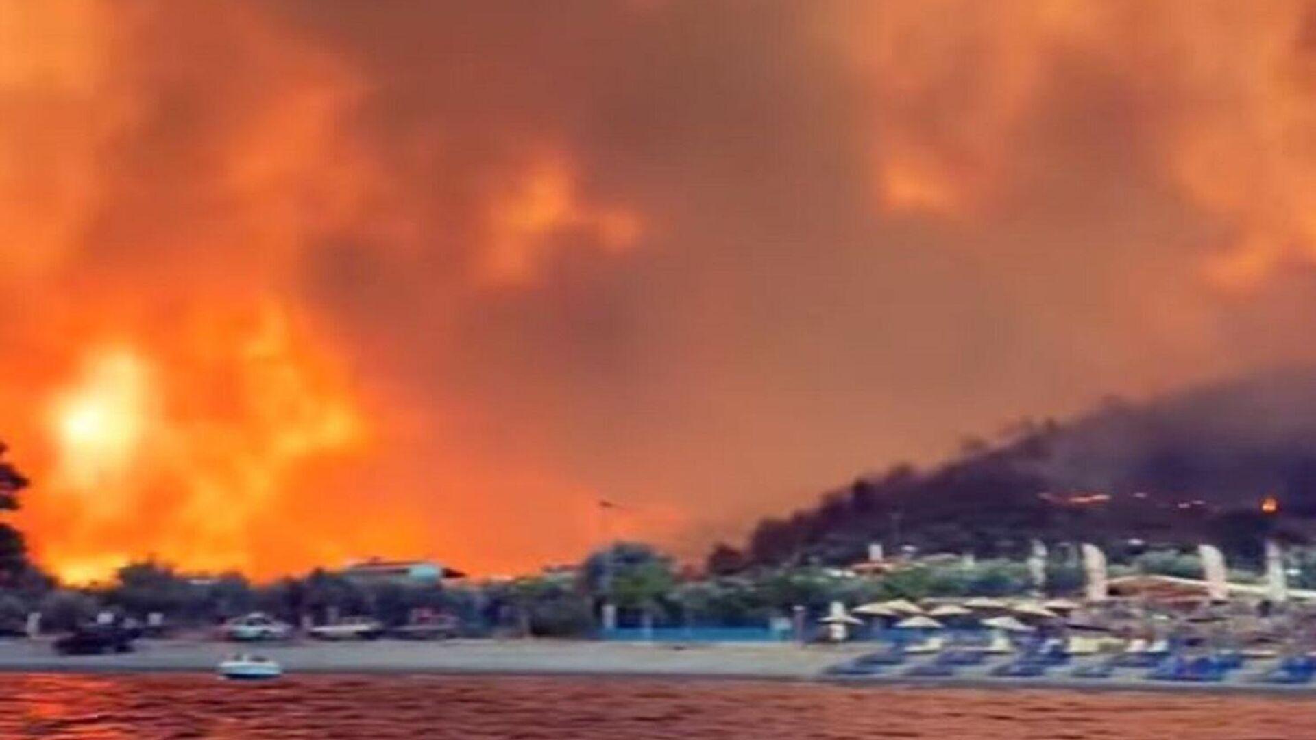 Φωτιά στις Ροβιές στην Εύβοια - Sputnik Ελλάδα, 1920, 06.08.2021