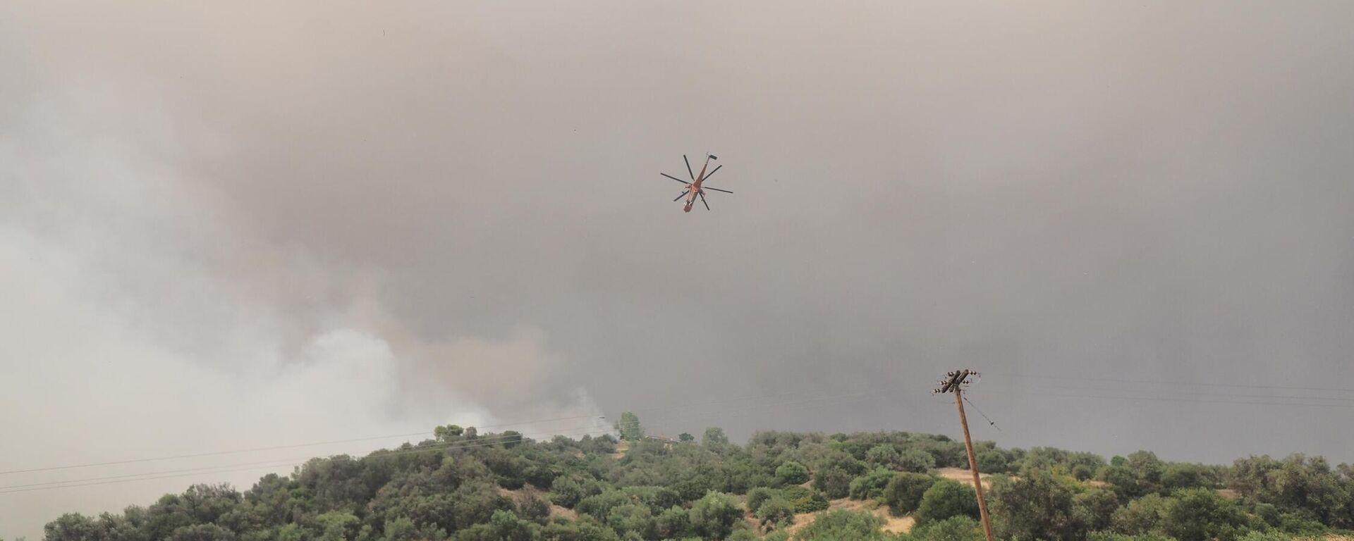 Κατάσβεση πυρκαγιάς στη Λίμνη Ευβοίας, 4 Αυγούστου 2021. - Sputnik Ελλάδα, 1920, 05.08.2021