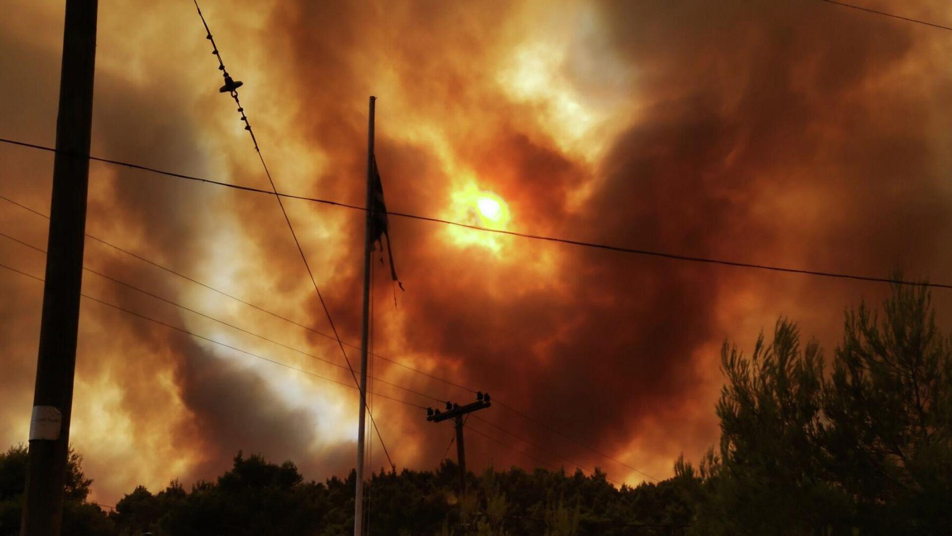 Φωτιά στη Δροσοπηγή - Sputnik Ελλάδα, 1920, 05.08.2021
