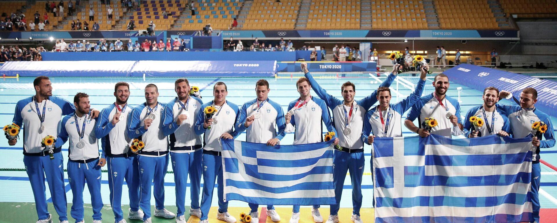 Η Εθνική πόλο με το ασημένιο μετάλλιο - Sputnik Ελλάδα, 1920, 08.08.2021