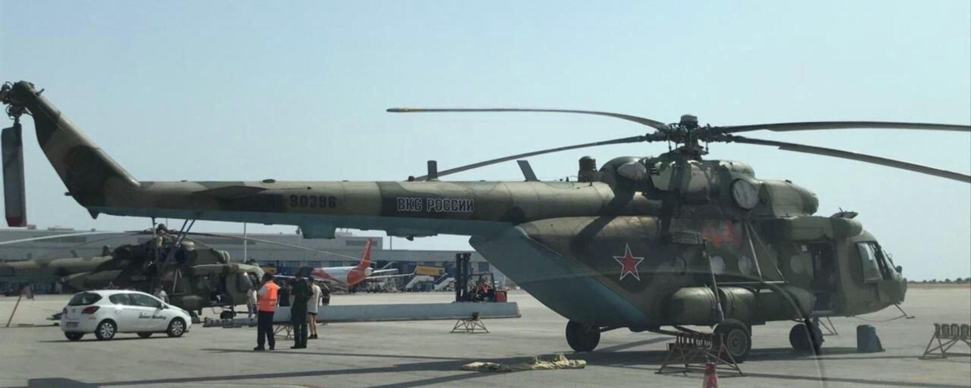 Τα ρωσικά ελικόπτερα Mi-8 στο Ελ. Βενιζέλος - Sputnik Ελλάδα, 1920, 11.08.2021
