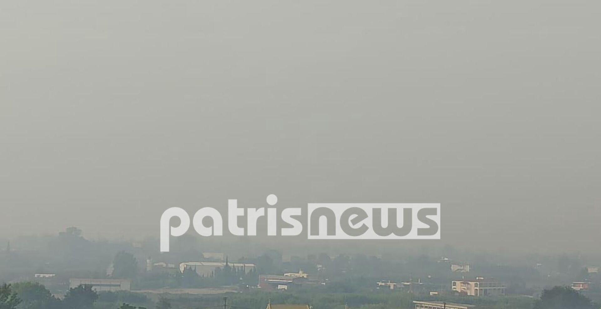 Πύργος: Αποπνικτική η ατμόσφαιρα λόγω των φωτιών στη Γορτυνία - Sputnik Ελλάδα, 1920, 11.08.2021