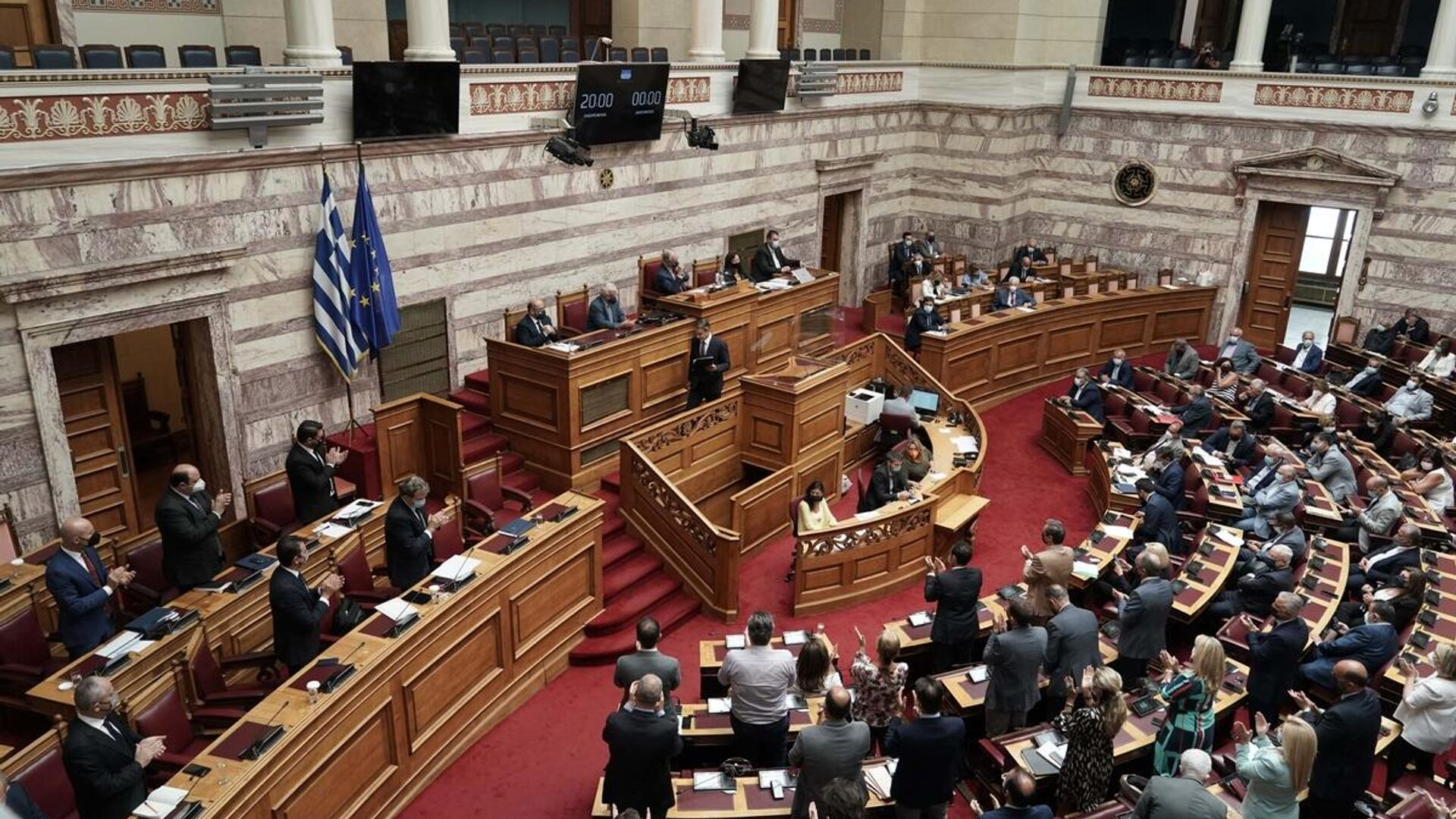 Συζήτηση στη Βουλή για τη διαχείριση των καταστροφικών πυρκαγιών και τα μέτρα αποκατάστασης - Sputnik Ελλάδα, 1920, 07.09.2021