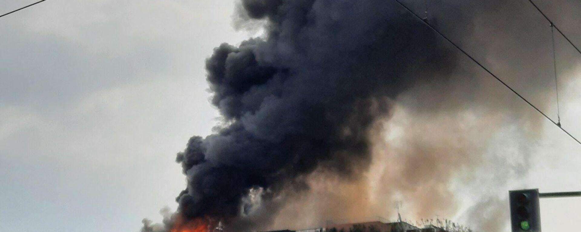 Ιταλία: Πυρκαγιά σε πολυκατοικία στο κέντρο του Τορίνο - Sputnik Ελλάδα, 1920, 03.09.2021
