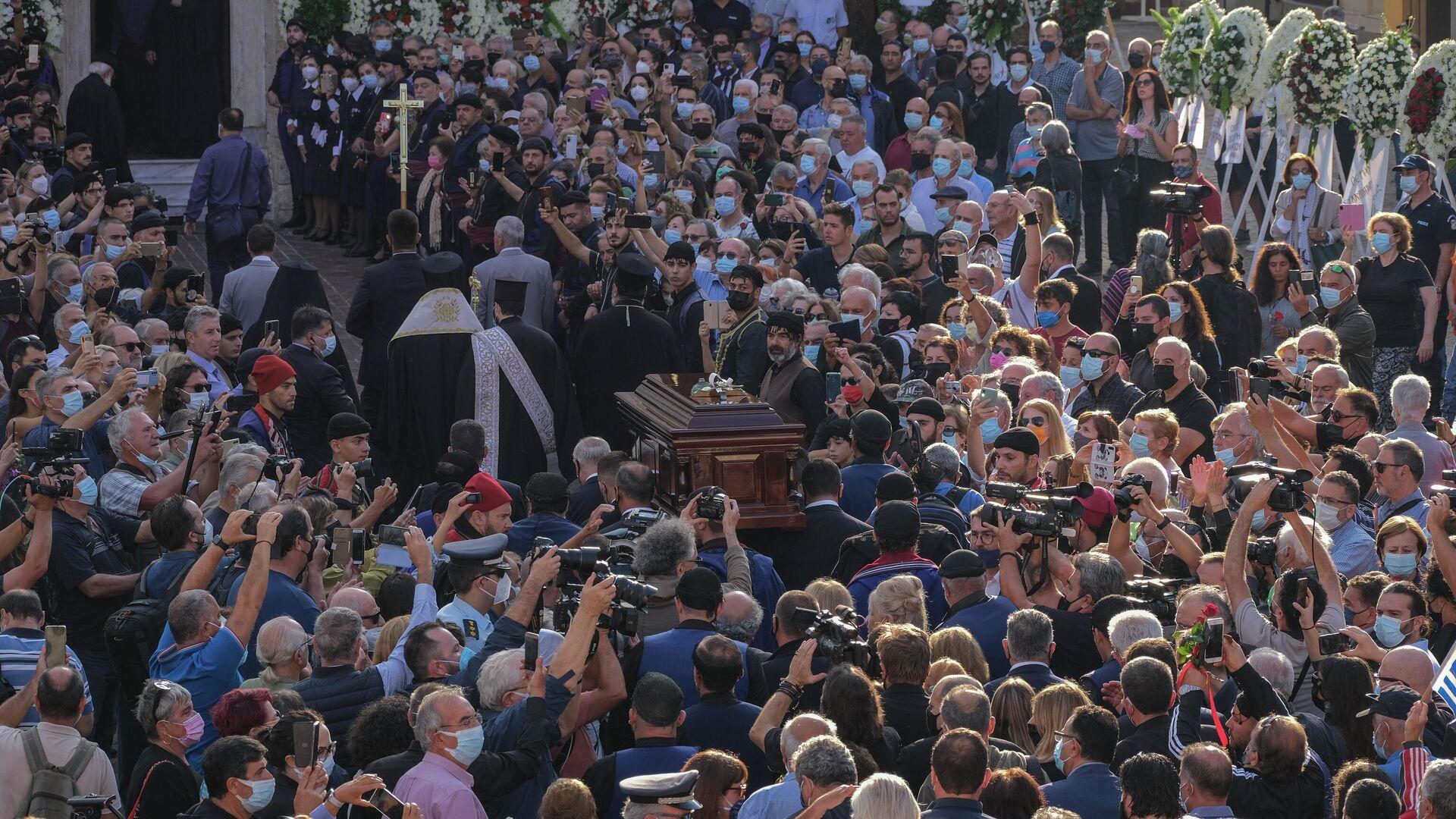 Κηδεία Μίκη Θεοδωράκη - Sputnik Ελλάδα, 1920, 09.09.2021