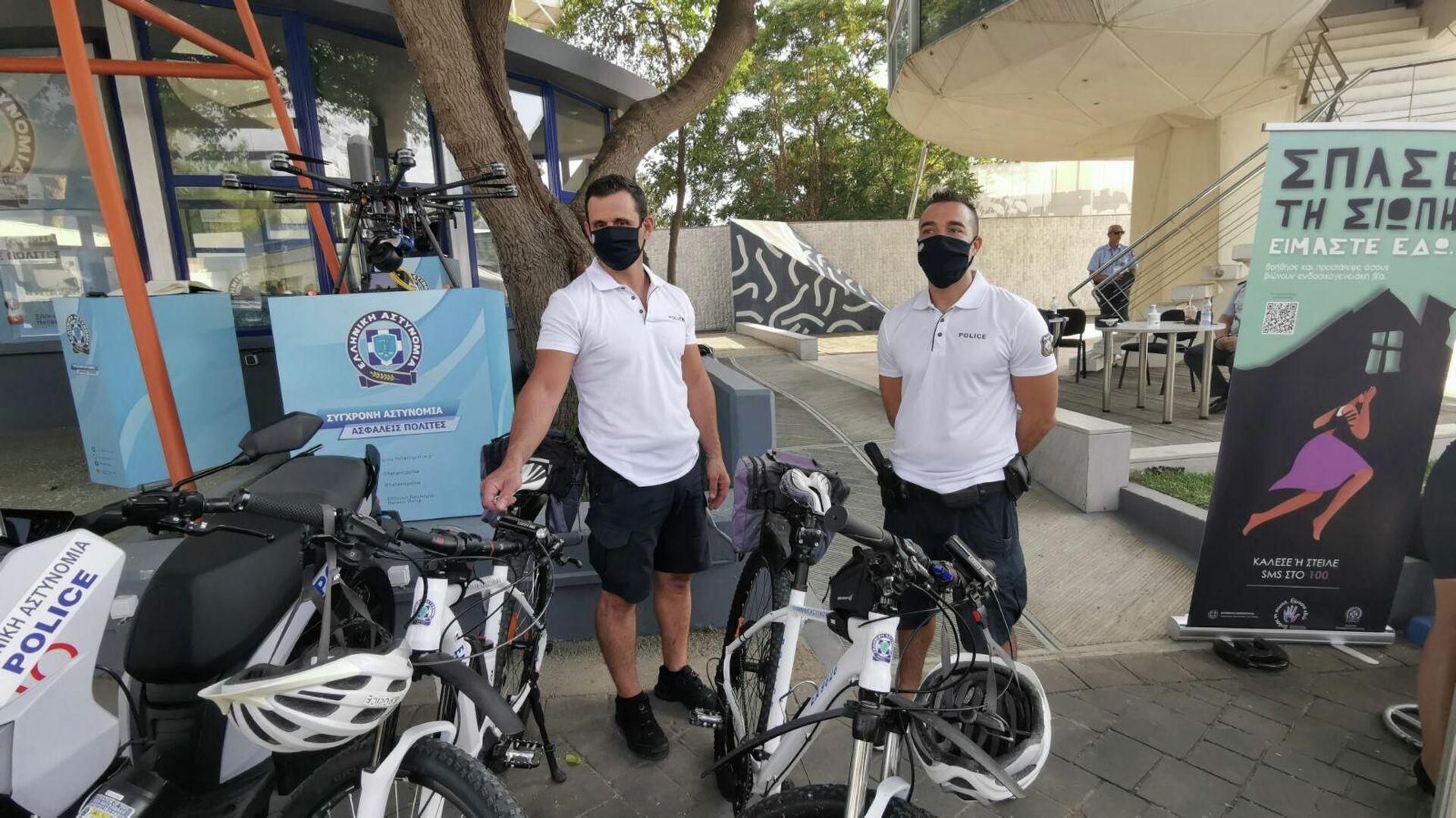 Αστυνόμοι ποδηλάτες στη Θεσσαλονίκη - Sputnik Ελλάδα, 1920, 13.09.2021