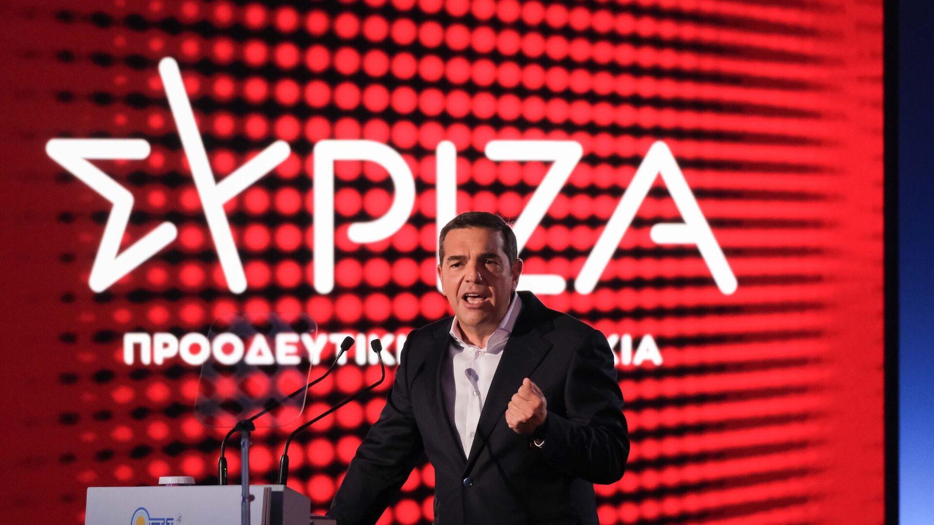 Ο Αλέξης Τσίπρας από το βήμα της ΔΕΘ - Sputnik Ελλάδα, 1920, 18.09.2021
