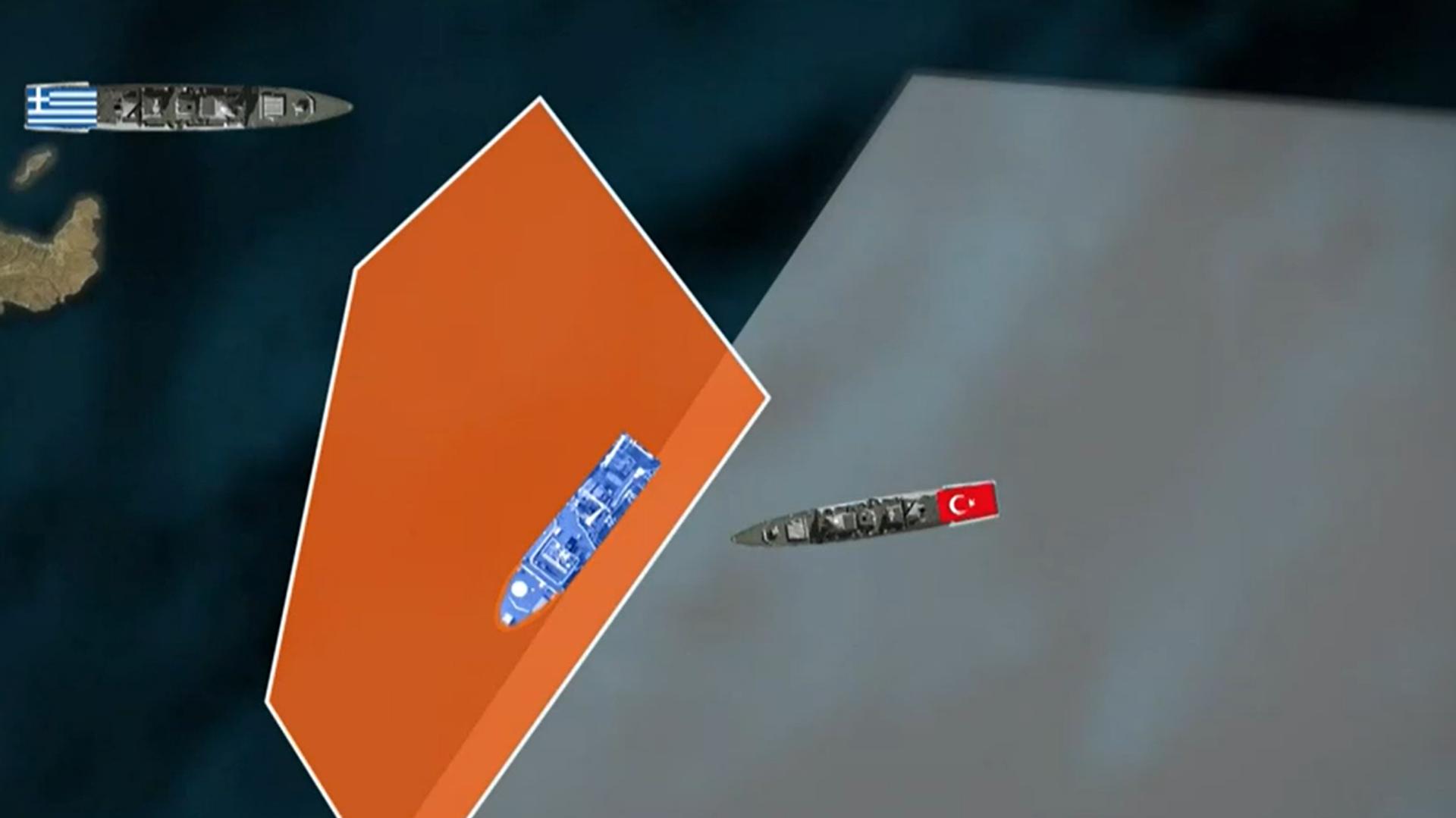 Τουρκική φρεγάτα ανατολικά της Κρήτης - Sputnik Ελλάδα, 1920, 21.09.2021