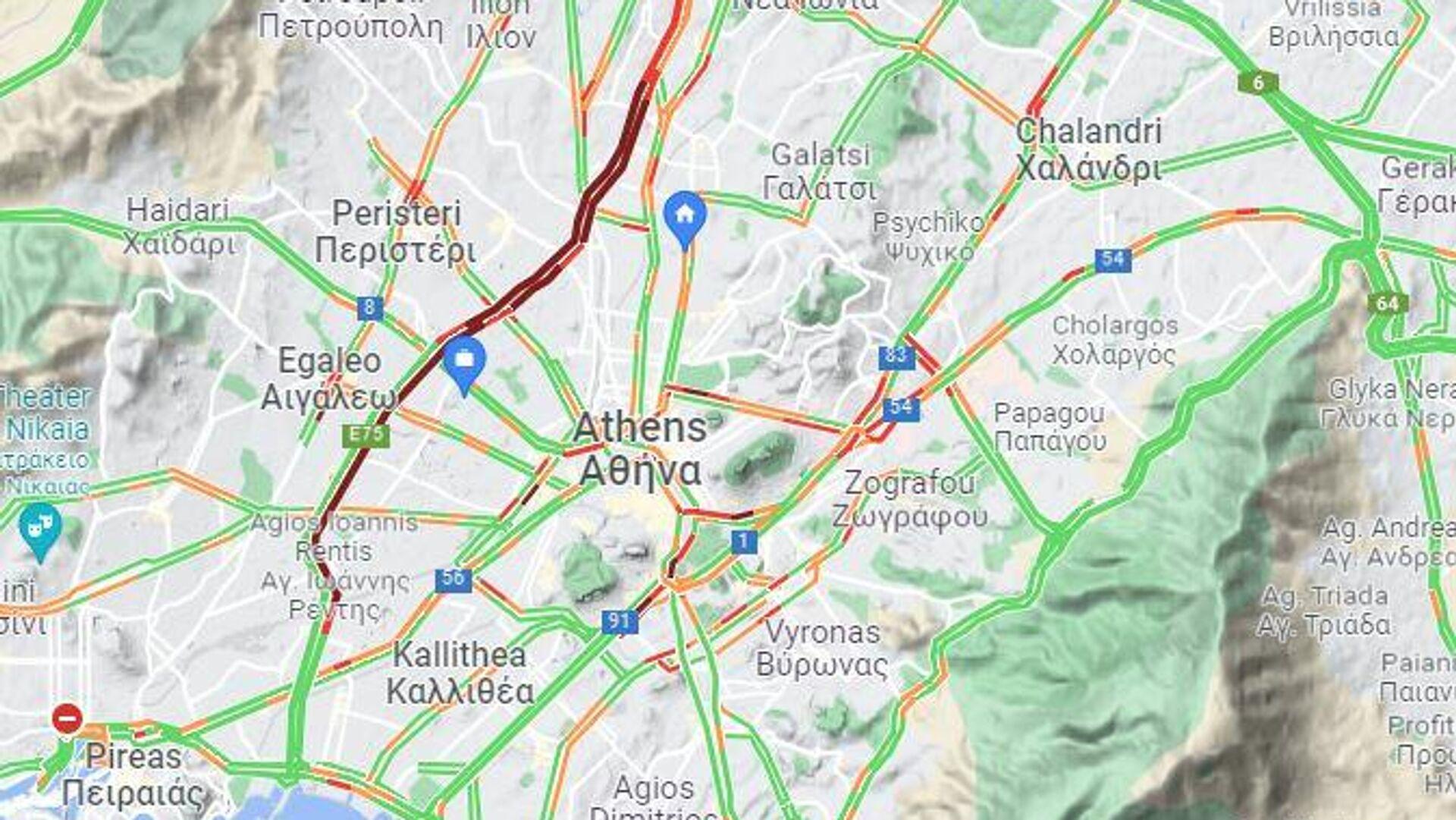 Κίνηση τώρα στους δρόμους (22/9 - 11:15) - Sputnik Ελλάδα, 1920, 22.09.2021