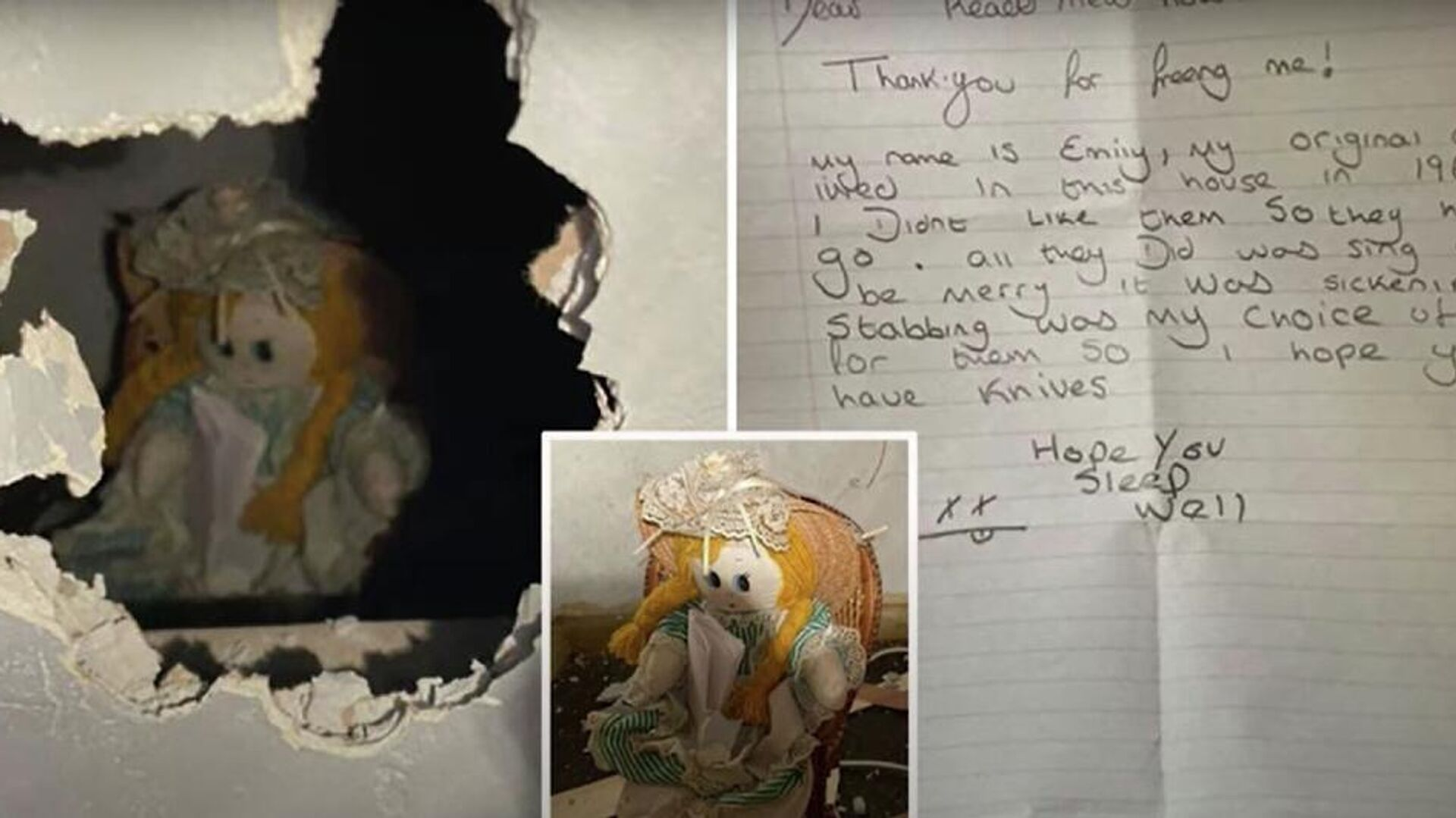 Καινούριος ιδιοκτήτης σπιτιού βρήκε σε τοίχο ανατριχιαστική κούκλα και σημείωμα δολοφονίας - Sputnik Ελλάδα, 1920, 22.09.2021