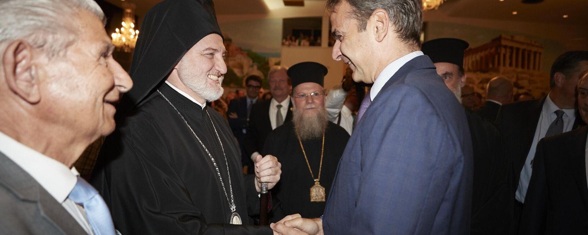 Ο Κυριάκος Μητσοτάκης με τον Αρχιεπίσκοπο Αμερικής, Ελπιδοφόρο - Sputnik Ελλάδα, 1920, 24.09.2021