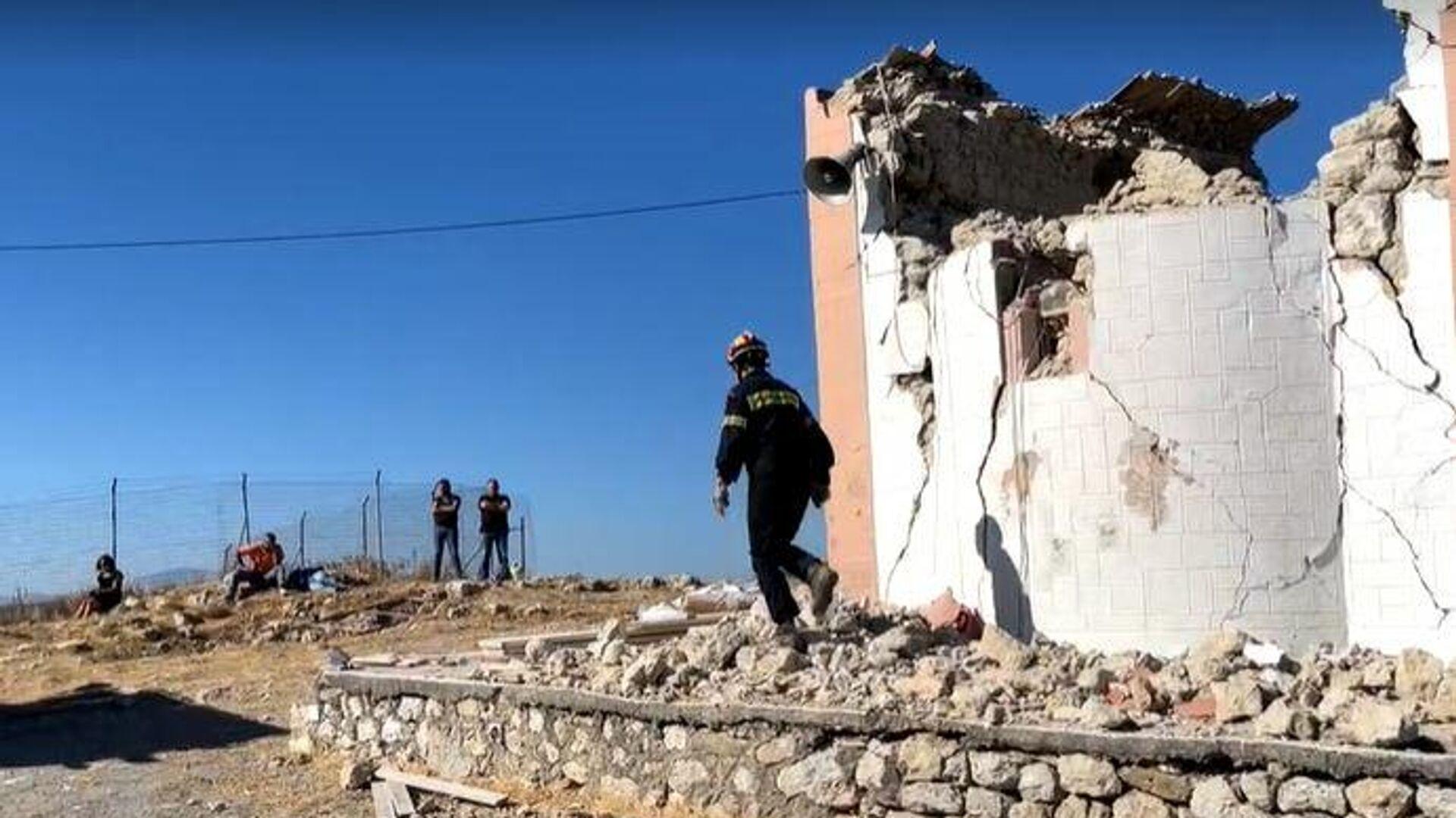 Το εκκλησάκι του Προφήτη Ηλία όπου βρέθηκε νεκρός ένας εργάτης - Sputnik Ελλάδα, 1920, 27.09.2021