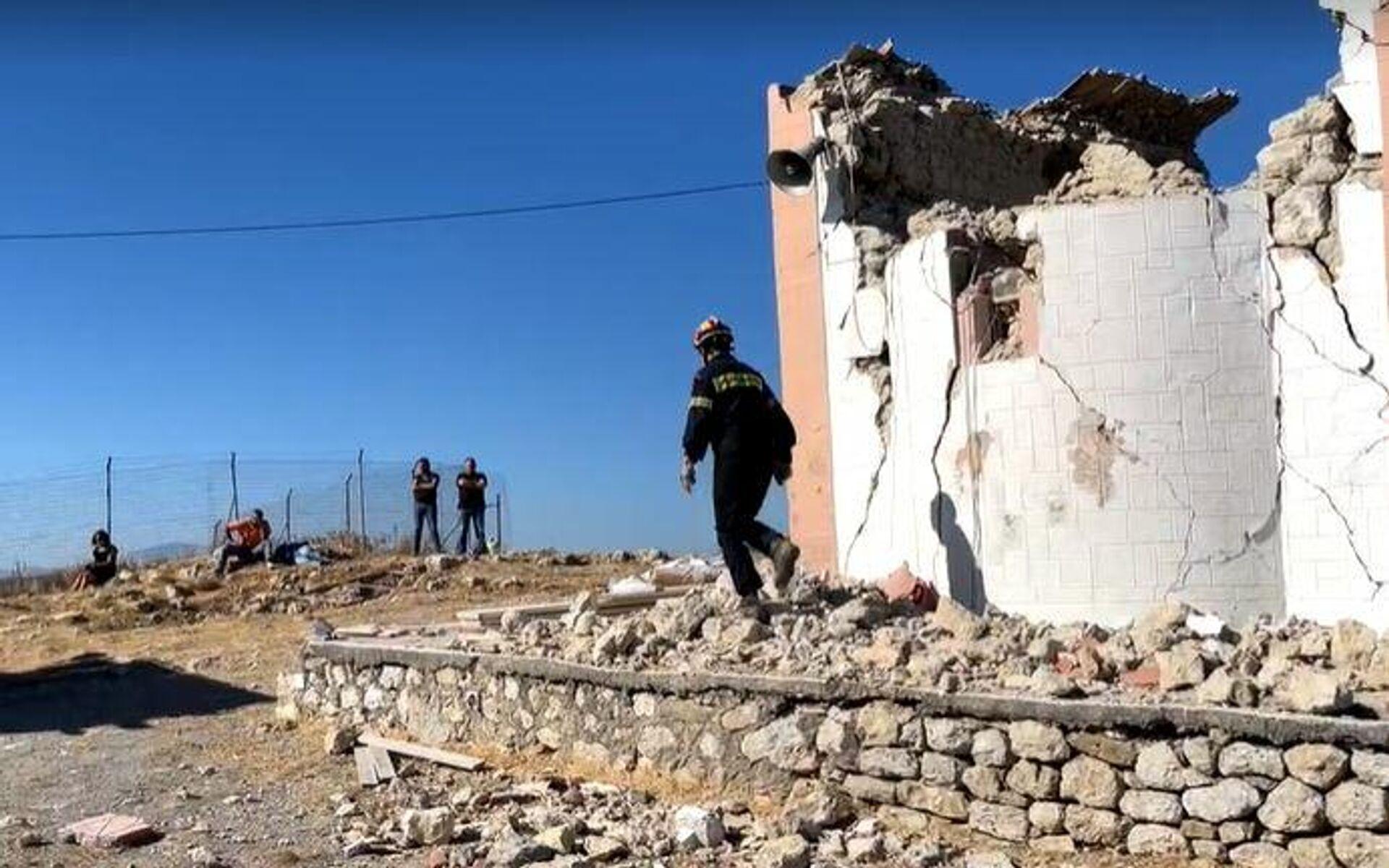 Το εκκλησάκι του Προφήτη Ηλία όπου βρέθηκε νεκρός ένας εργάτης - Sputnik Ελλάδα, 1920, 28.09.2021