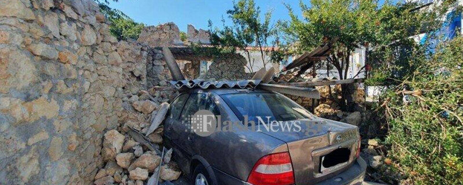 Ισχυρός σεισμός στην Κρήτη: Μεγάλες οι καταστροφές στο Αρκαλοχώρι - Sputnik Ελλάδα, 1920, 27.09.2021