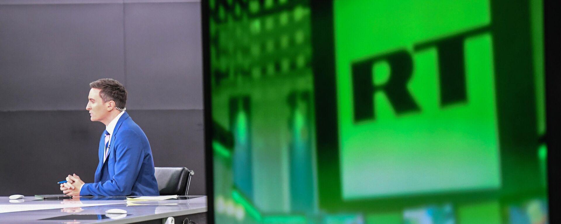 Το σήμα της τηλεόρασης του Russia Today (RT) - Sputnik Ελλάδα, 1920, 29.09.2021