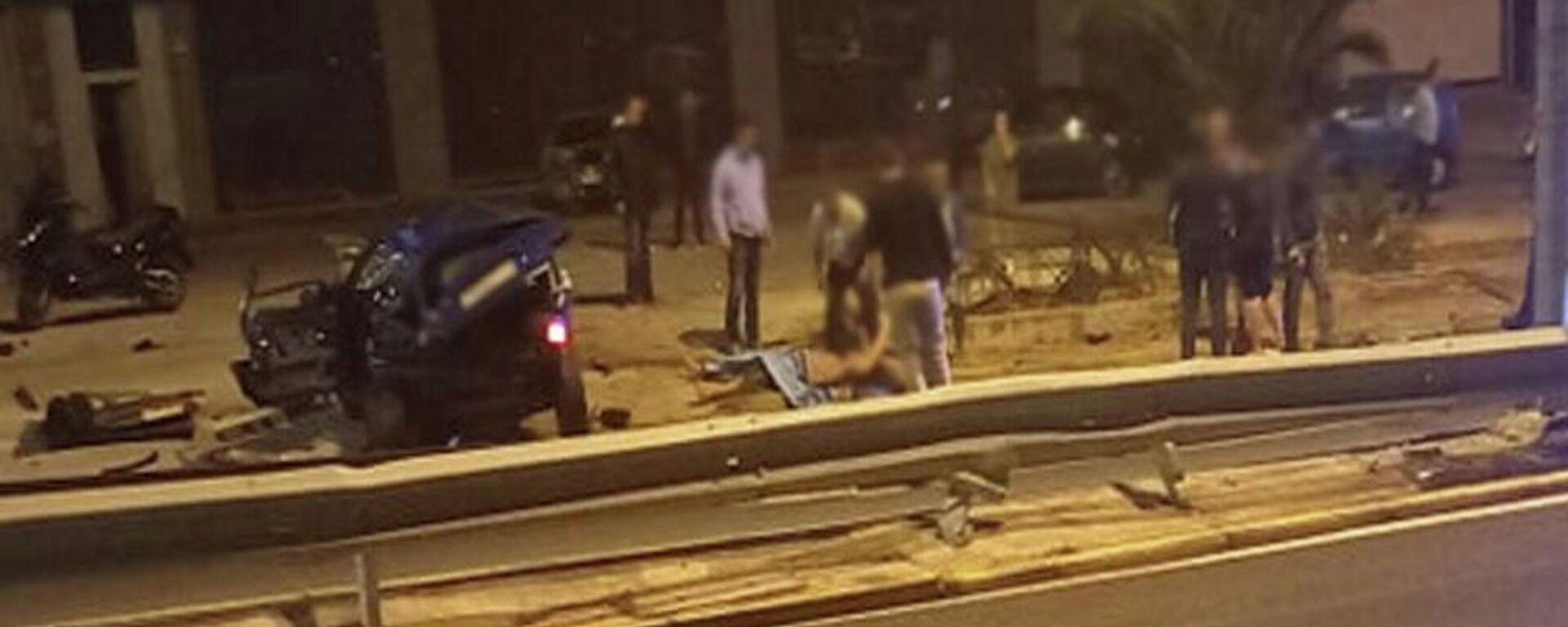 Τροχαίο ατύχημα στη Λεωφόρο Μαραθώνος, 30 Σεπτεμβρίου 2021 - Sputnik Ελλάδα, 1920, 01.10.2021