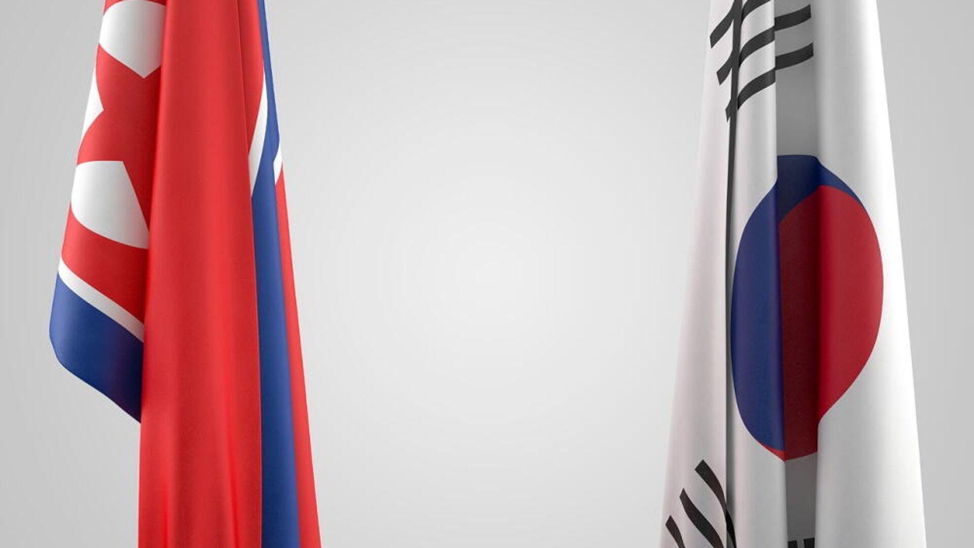 Οι σημαίες της Βόρειας και της Νότιας Κορέας - Sputnik Ελλάδα, 1920, 04.10.2021