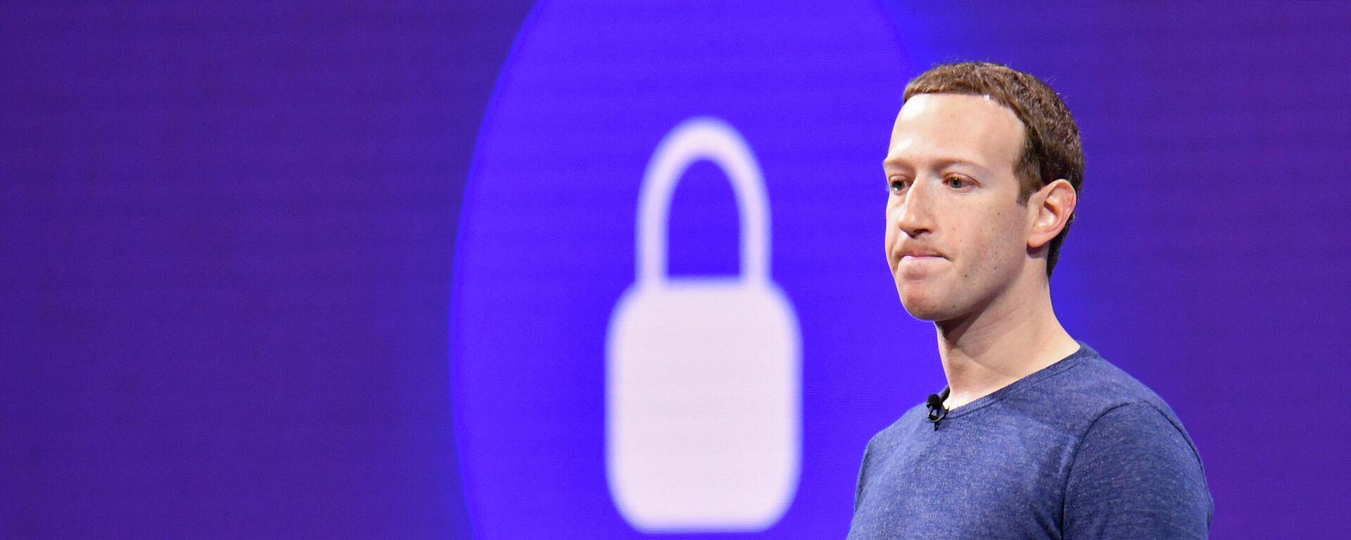 Ο ιδρυτής του Facebook, Μαρκ Ζάκερμπεργκ - Sputnik Ελλάδα, 1920, 04.10.2021
