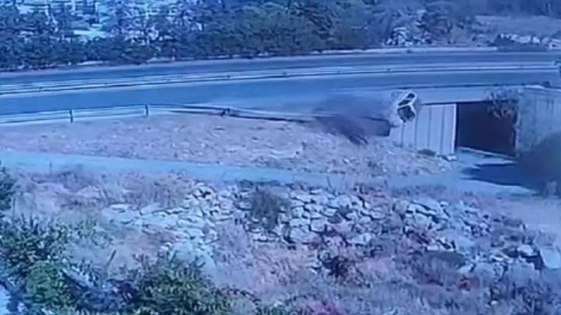 Κάμερα κατέγραψε το θανατηφόρο τροχαίο στην Κρήτη - Sputnik Ελλάδα, 1920, 12.10.2021