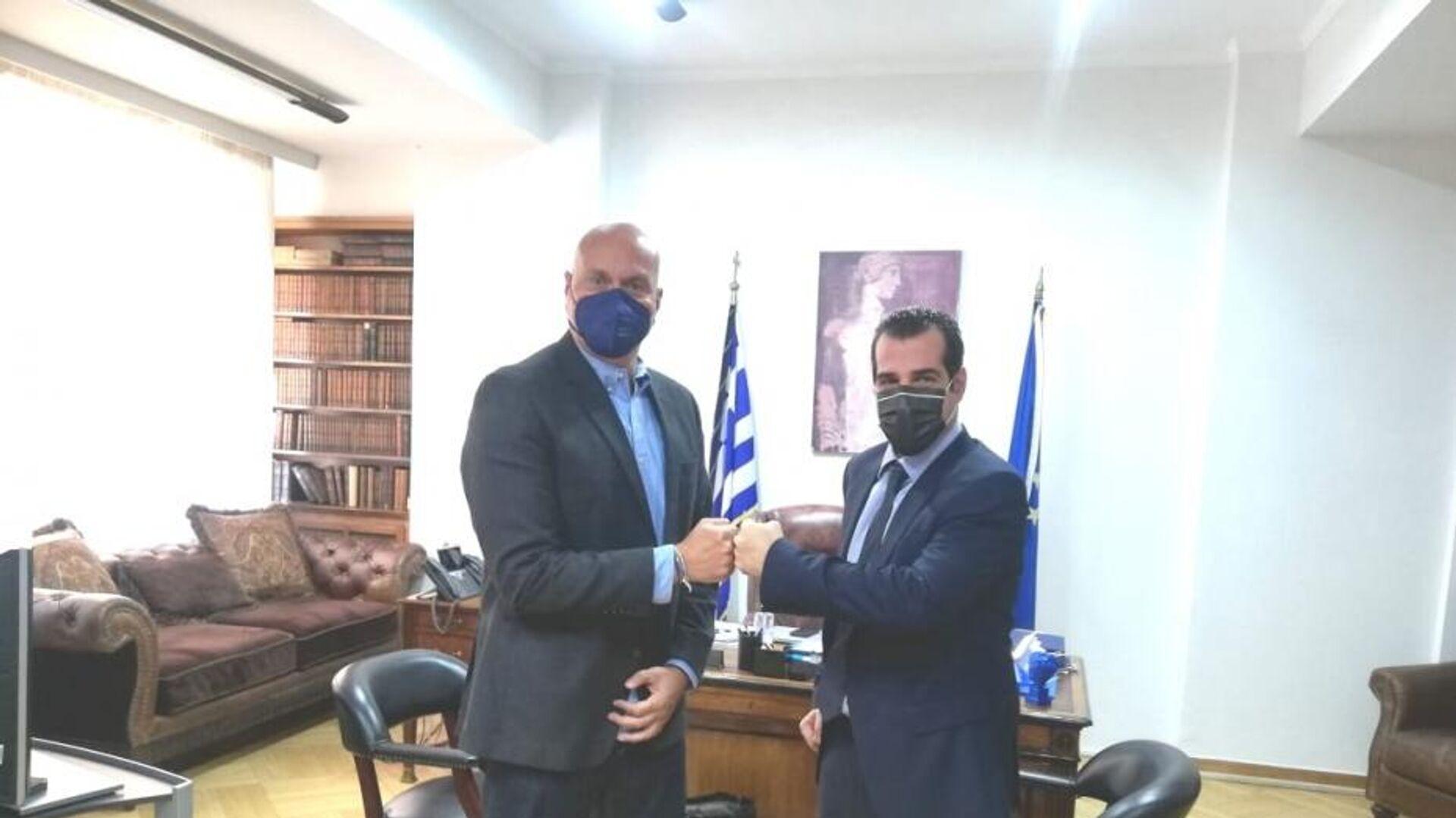 Θάνος Πλεύρης και Θεοκλής Ζαούτης - Sputnik Ελλάδα, 1920, 05.10.2021