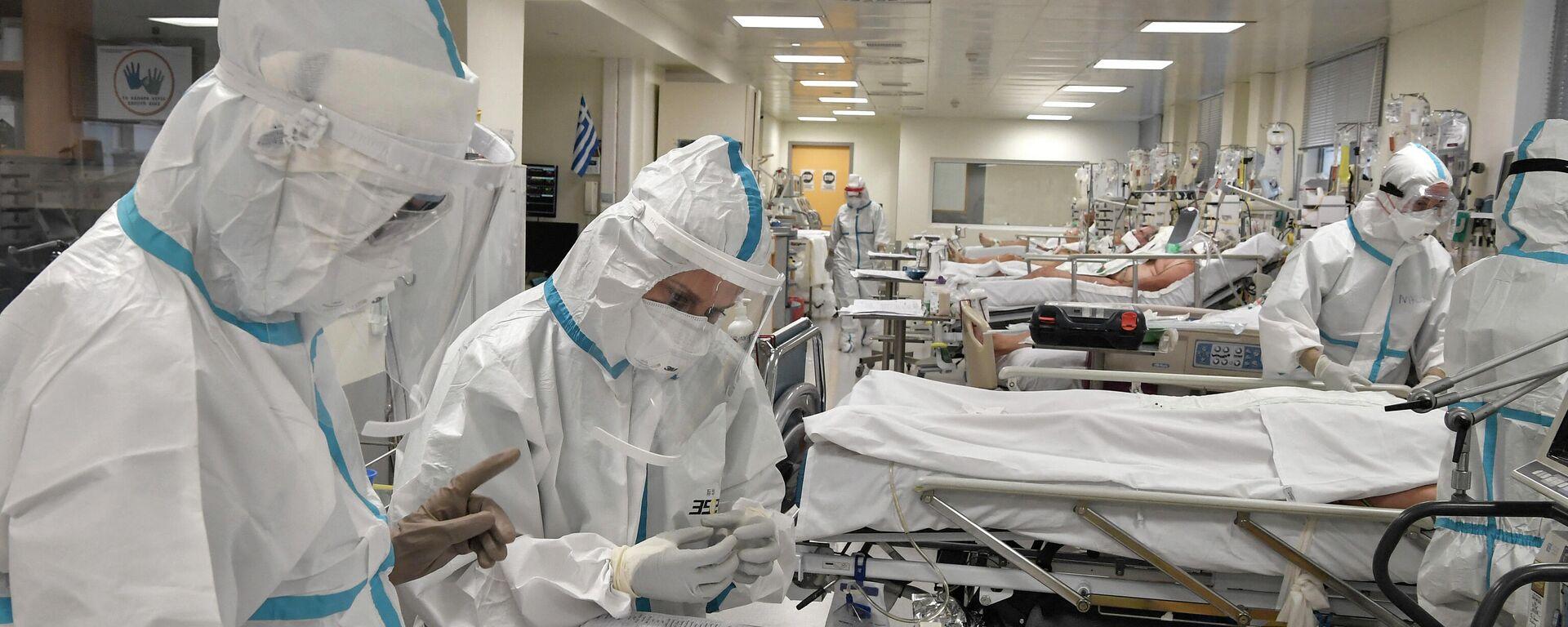 Νοσοκομείο εν μέσω πανδημίας - Sputnik Ελλάδα, 1920, 06.10.2021