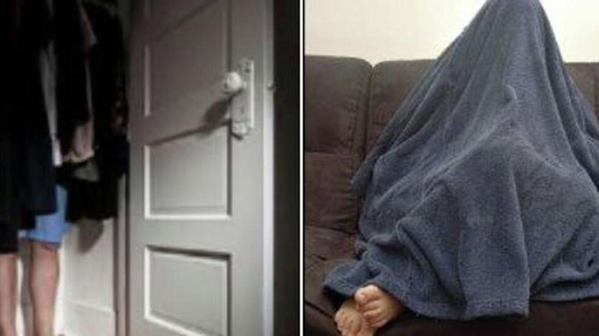 Ληστής κρύφτηκε σε ντουλάπα, κάτω από κουβέρτα, για να γλιτώσει από την αστυνομία - Sputnik Ελλάδα, 1920, 07.10.2021