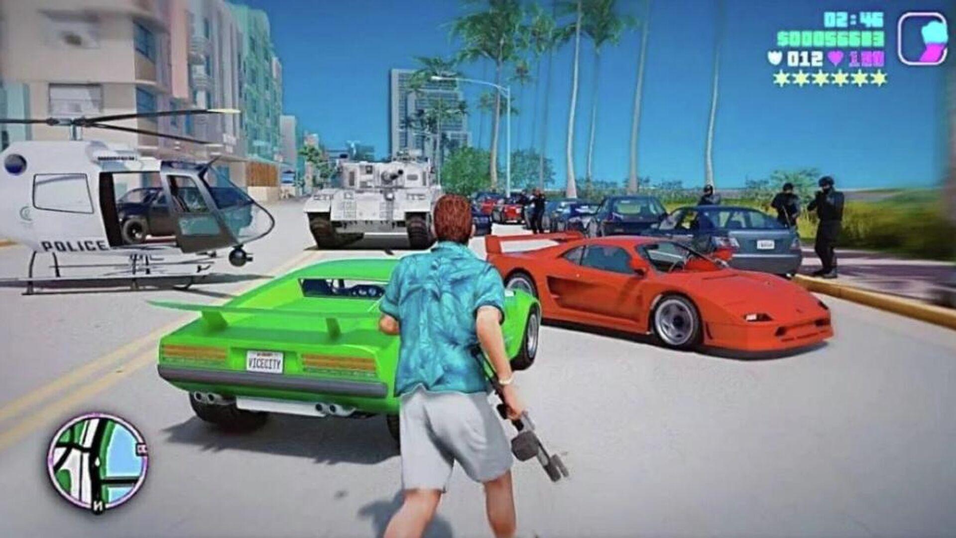 Σκηνή από το παιχνίδια Grand Theft Auto - Sputnik Ελλάδα, 1920, 09.10.2021