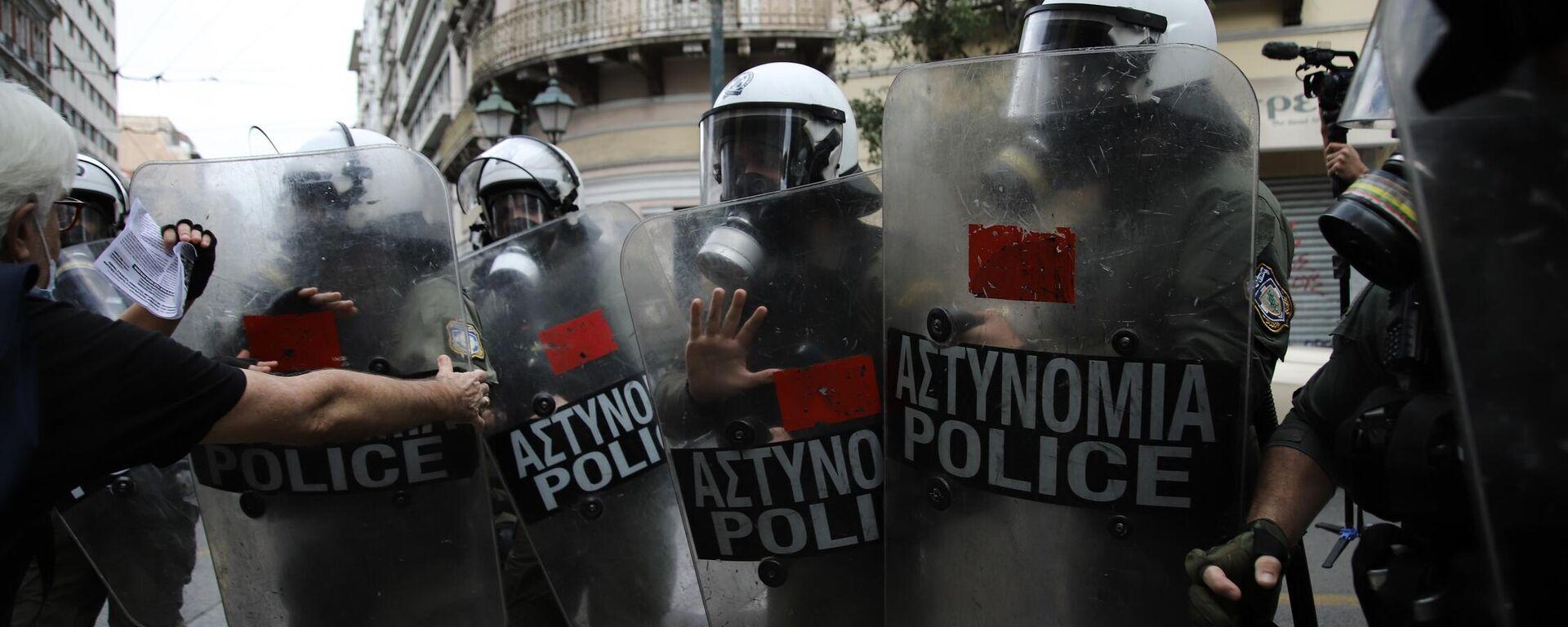 Αντιφασιστικό συλλαλητήριο, Ομόνοια - Sputnik Ελλάδα, 1920, 09.10.2021