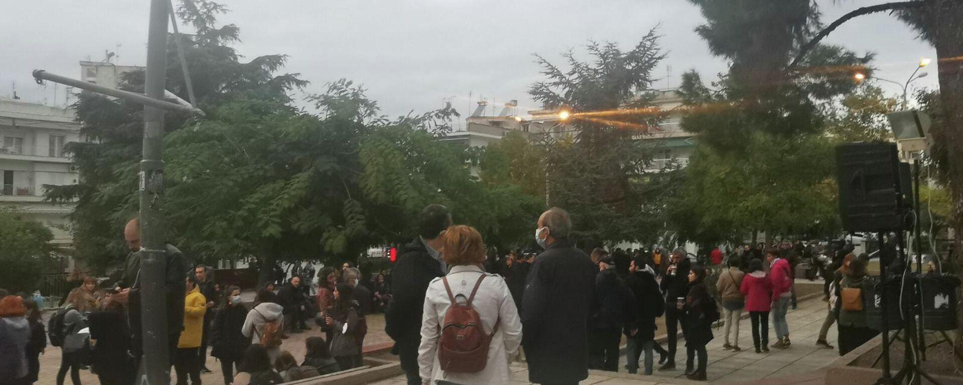 Έκδήλωση του ΚΚΕ και της ΚΝΕ στη Σταυρούπολη - Sputnik Ελλάδα, 1920, 09.10.2021