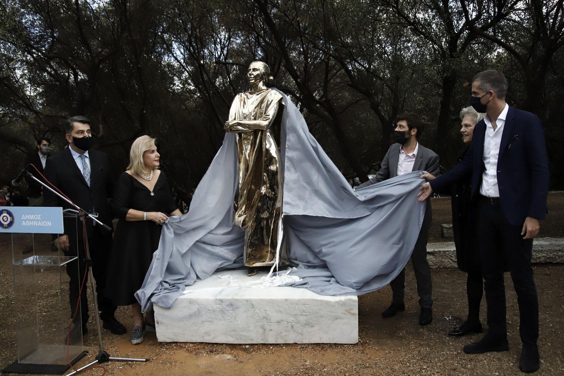 Αποκαλυπτήρια του αγάλματος της Μαρίας Κάλλας - Sputnik Ελλάδα, 1920, 11.10.2021