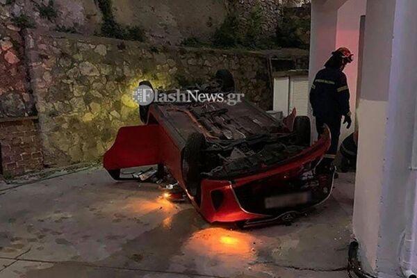 Τροχαίο στα Χανιά: Αυτοκίνητο με μία γυναίκα και δυο παιδιά έπεσε στο πίσω μέρος πολυκατοικίας - Sputnik Ελλάδα