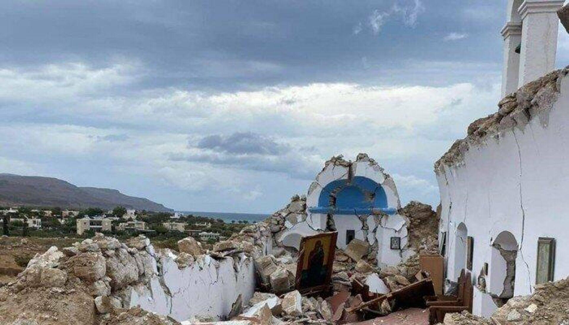 Κατέρρευσε εκκλησία στη Σητεία - Sputnik Ελλάδα, 1920, 12.10.2021