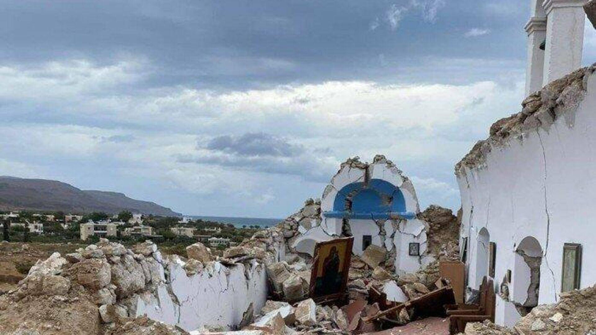 Κατέρρευσε εκκλησία στη Σητεία - Sputnik Ελλάδα, 1920, 13.10.2021
