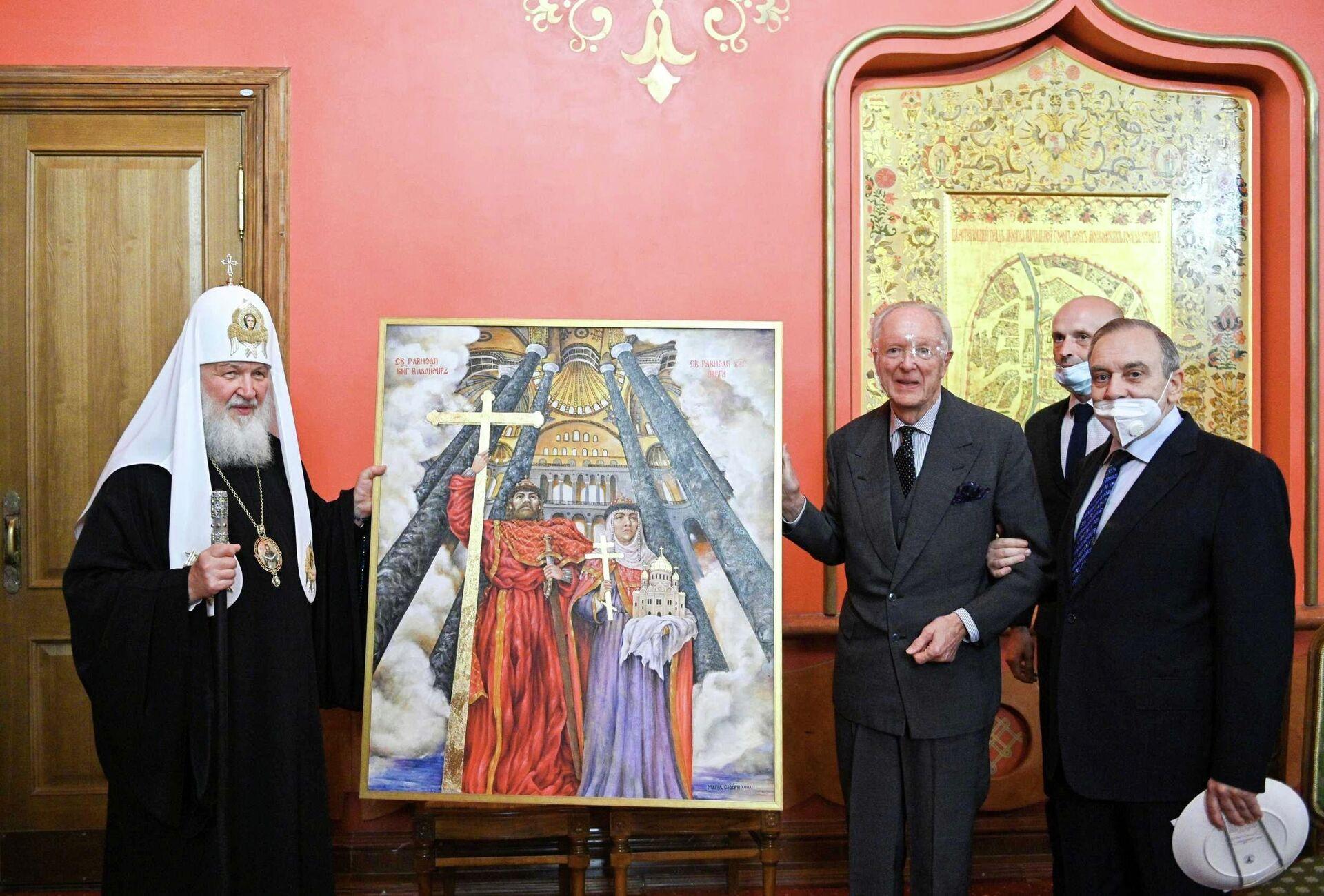 Δώρο με ελληνικό «χρώμα» για τον Πατριάρχη Κύριλλο  - Sputnik Ελλάδα, 1920, 14.10.2021