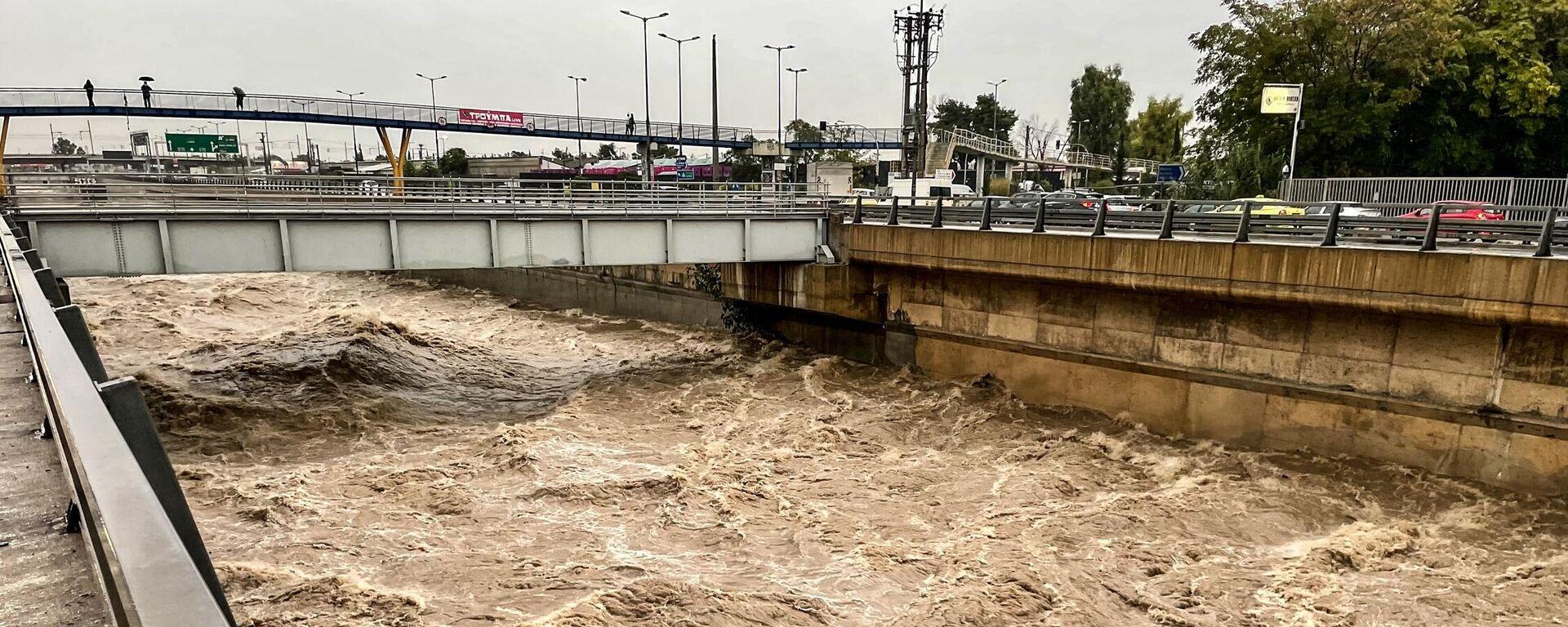 Εκτεταμένες πλημμύρες έπειτα από το πέρασμα της κακοκαιρίας  - Sputnik Ελλάδα, 1920, 14.10.2021