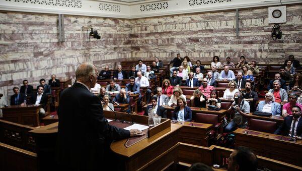 Διευρυμένη κοινοβουλευτική συνεδρίαση της Ένωσης Κεντρώων - Sputnik Ελλάδα