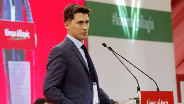O εκπρόσωπος Τύπου του Κινήματος Αλλαγής, Παύλος Χρηστίδης. - Sputnik Ελλάδα