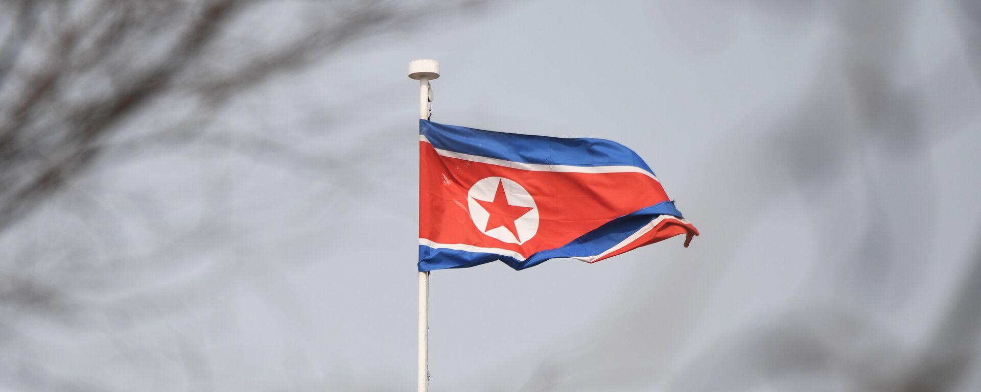 Σημαία της Βόρειας Κορέας.  - Sputnik Ελλάδα, 1920, 30.08.2021