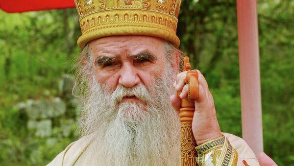 O επικεφαλής της Σερβικής Εκκλησίας στο Μαυροβούνιο, μητροπολίτης Αμφιλόχιος - Sputnik Ελλάδα