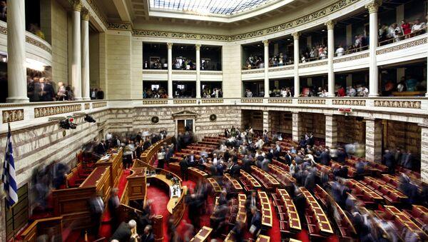 Εικόνα από την αίθουσα της Ολομέλειας της Βουλής - Sputnik Ελλάδα