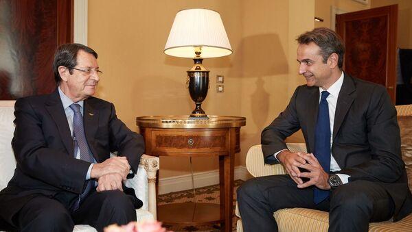 Συνάντηση Κυριάκου Μητσοτάκη με Νίκο Αναστασιάδη - Sputnik Ελλάδα