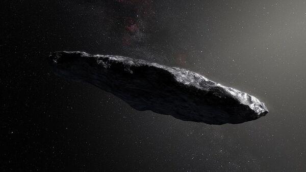 Καλλιτεχνική απεικόνιση του κομήτη Ουμουαμούα - Sputnik Ελλάδα