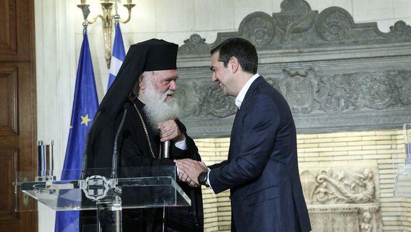 Συνάντηση του Αλέξη Τσίπρα με τον Αρχιεπίσκοπο Ιερώνυμο, στο Μέγαρο Μαξίμου, στις 6 Νοεμβρίου, 2018 - Sputnik Ελλάδα