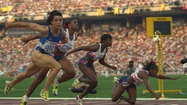 Η Βούλα Πατουλίδου στους Ολυμπιακούς Αγώνες της Βαρκελώνης - Sputnik Ελλάδα