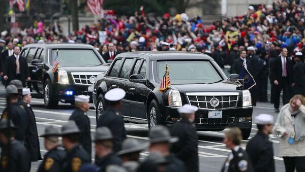 Το αυτοκίνητο του αμερικανού προέδρου Ντ. Τραμπ - Sputnik Ελλάδα