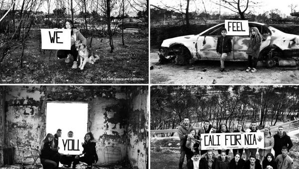 Το μήνυμα των νέων από το Μάτι στην Καλιφόρνια - Sputnik Ελλάδα
