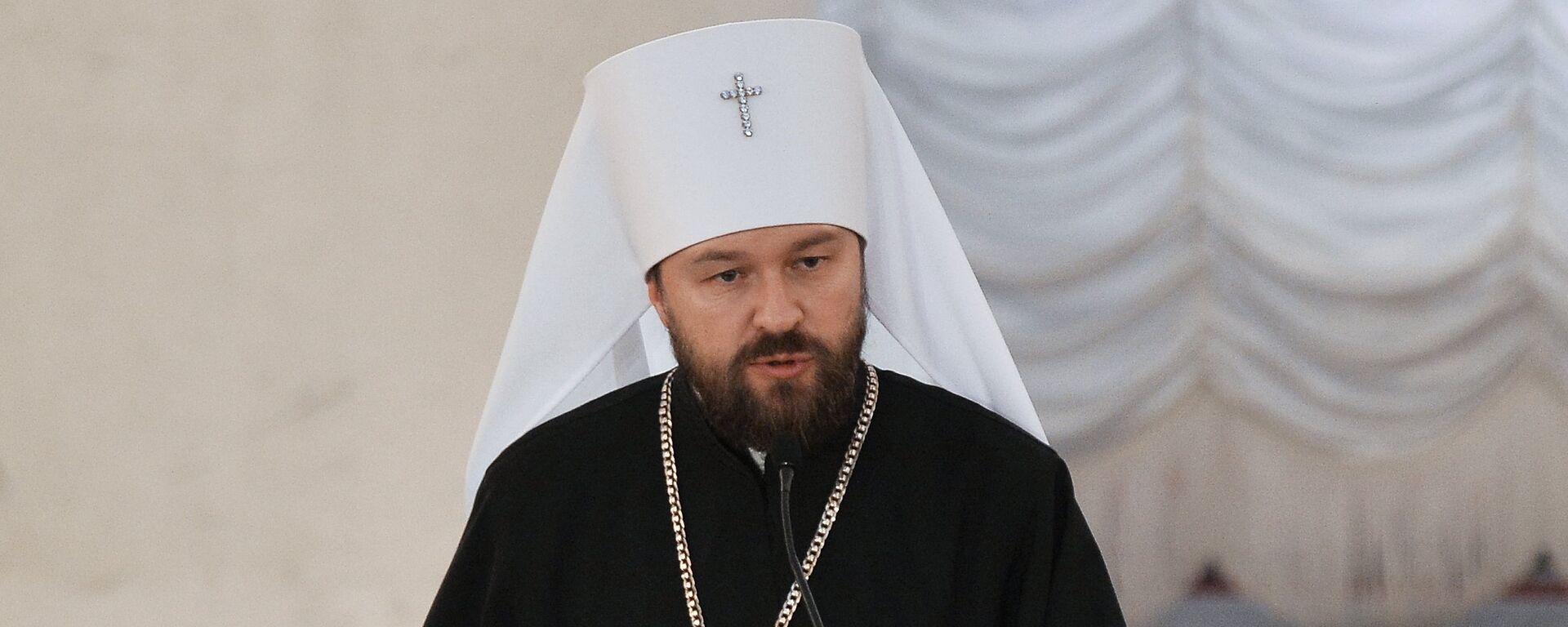 Ο Μητροπολίτης Ιλαρίων του Βολοκολαμάσκ, επικεφαλής του τμήματος Διεθνών Εκκλησιαστικών Σχέσεων του Πατριαρχείου Μόσχας - Sputnik Ελλάδα, 1920, 28.12.2020